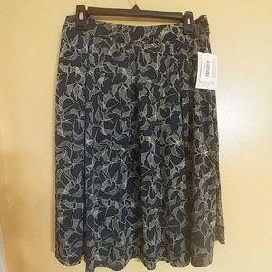 NWT LuLaRoe Madison Skirt Bird Print L
